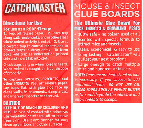 Glue Boards by Catchmaster Instructions