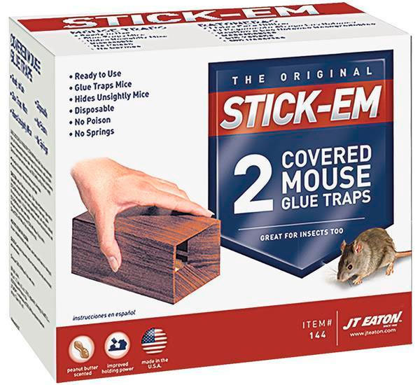 2 Covered Mouse Glue Traps by JT Eaton