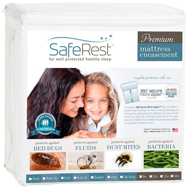 Premium mattress encasement by SafeRest